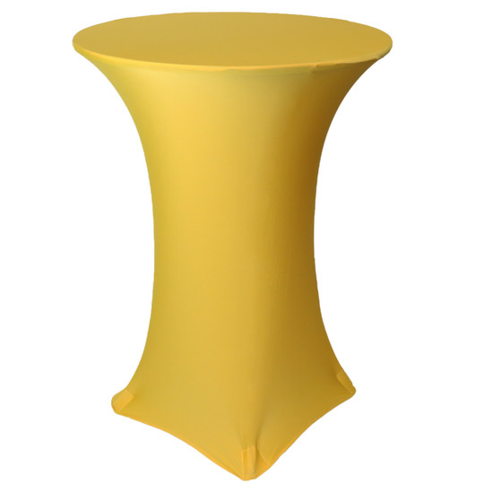 30 inch Highboy Cocktail Round Stretch Spandex Table Covers Gold