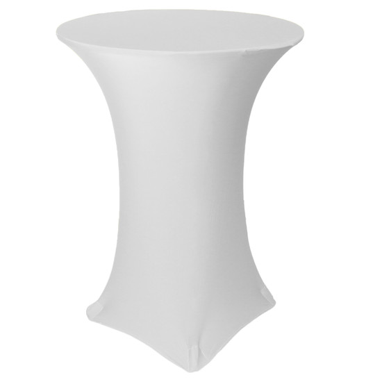 30 inch Highboy Cocktail Round Stretch Spandex Table Covers White