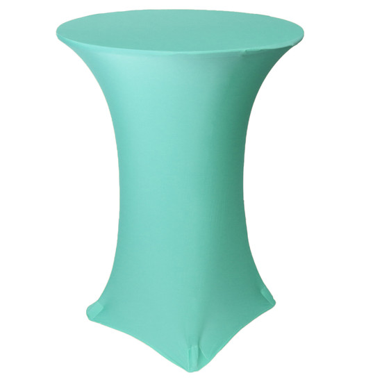 30 inch Highboy Cocktail Round Stretch Spandex Table Covers Tiffany
