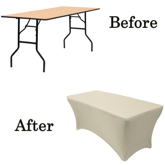 ivory wood folding table covers