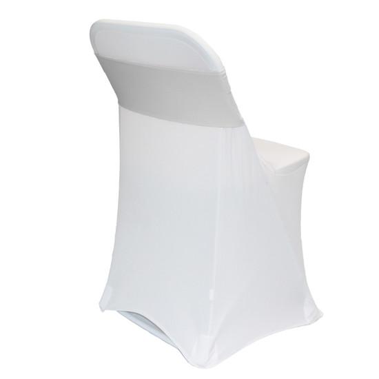 Spandex Chair Sashes Silver
