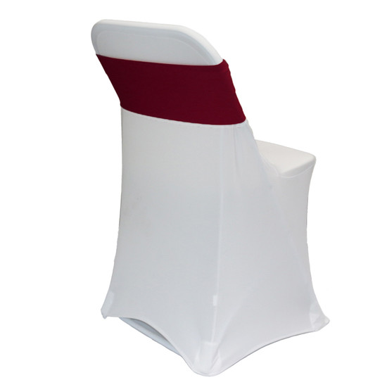 Spandex Chair Sashes Burgundy