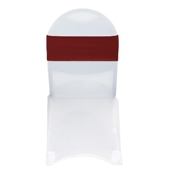 Stretch Spandex Chair Bands Burgundy