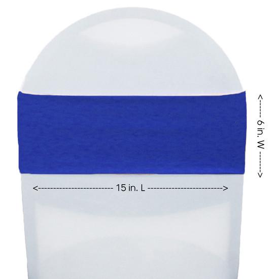 Spandex Chair Sashes Royal Blue measurements
