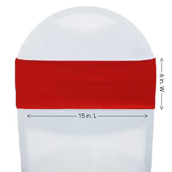 Spandex Chair Sashes Red measurements