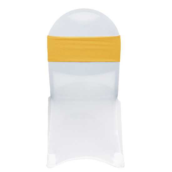 Stretch Spandex Chair Bands Gold