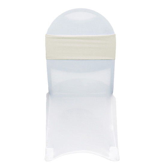 Stretch Spandex Chair Bands Ivory