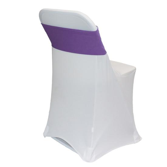 Spandex Chair Sashes Purple