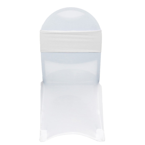 Stretch Spandex Bands White on white chair covers