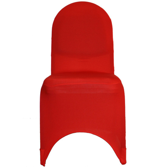 Spandex Banquet Chair Covers Red For Wholesale