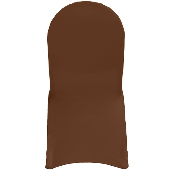 Stretch Spandex Banquet Chair Covers Chocolate Brown For Weddings