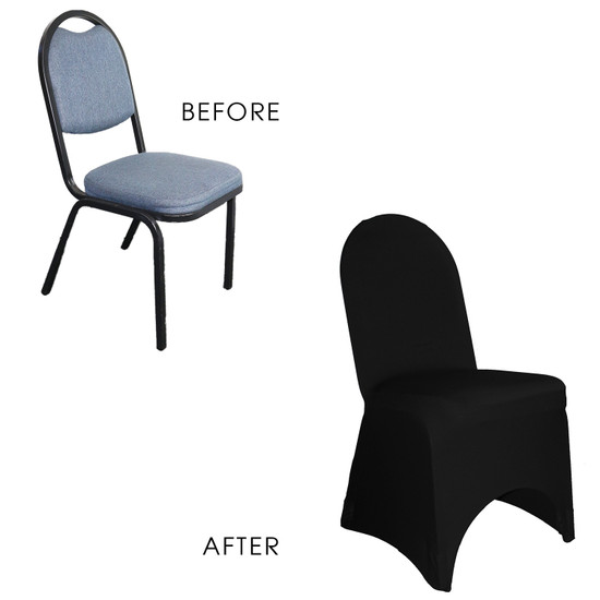Stretch Spandex Banquet Chair Cover Black