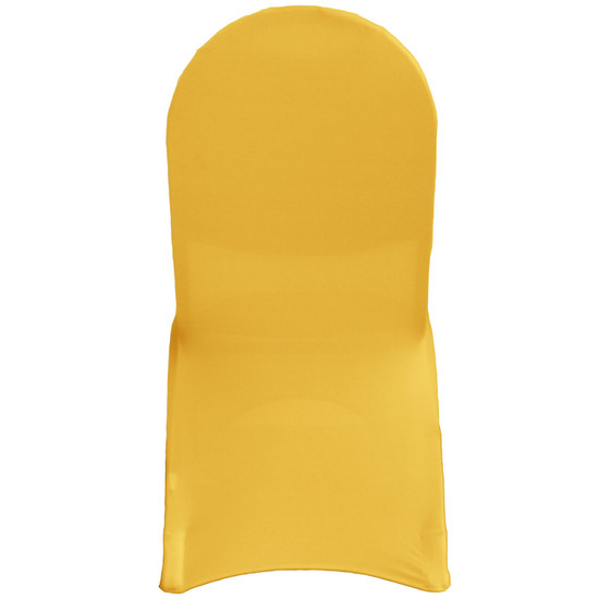 Spandex Banquet Chair Cover Gold For Weddings