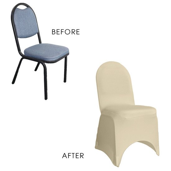 Stretch Spandex Banquet Chair Cover Ivory