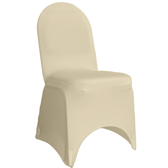 Stretch Spandex Banquet Chair Cover Ivory For Weddings