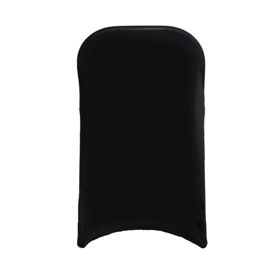 Stretch Spandex Folding Chair Cover Black For Weddings