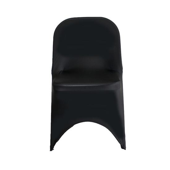 Wholesale Stretch Spandex Folding Chair Cover Black