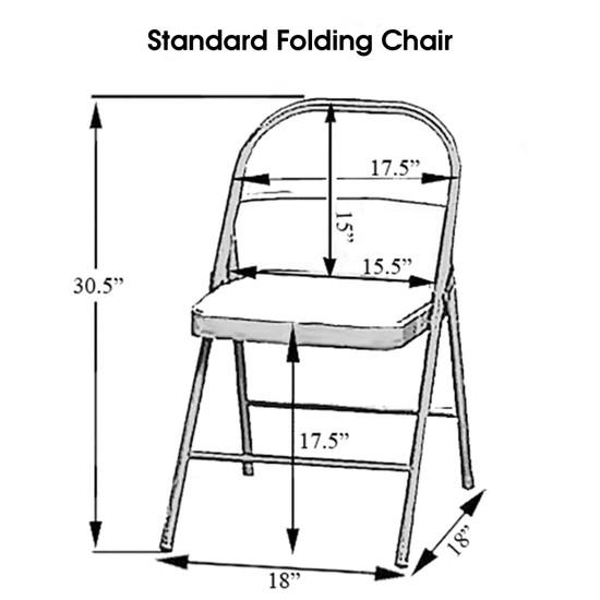 Stretch Spandex Folding Chair Cover Black