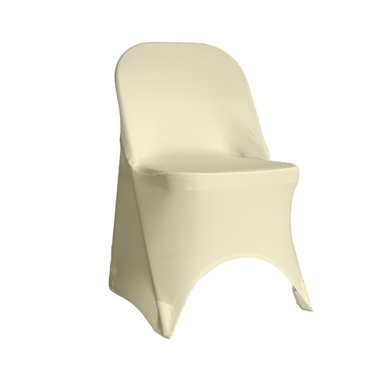 Stretch Spandex Folding Chair Cover Ivory