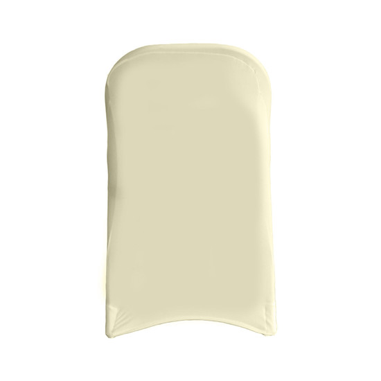 Stretch Spandex Folding Chair Cover Ivory For Hotels