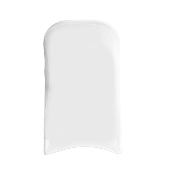 Stretch Spandex Folding Chair Cover White For Weddings