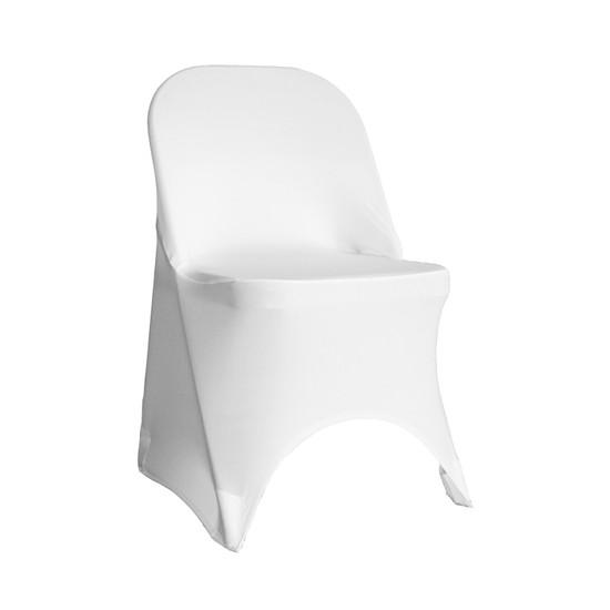 Stretch Spandex Folding Chair Cover White