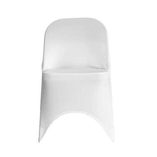 Wholesale Stretch Spandex Folding Chair Cover White