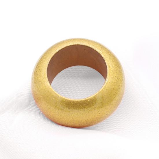Acrylic Glittering Napkin Rings Gold