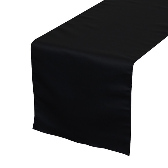Black Table Runners, Lamour Table Runners for Weddings and Events