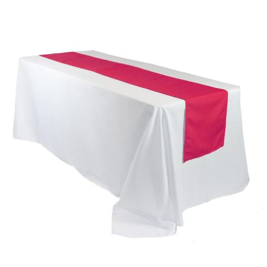 14 x 108 Inch Polyester Table Runner Fuchsia on rectangular table
