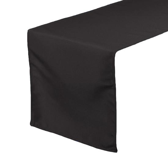 Black Table Runners, Polyester Table Runner for Weddings