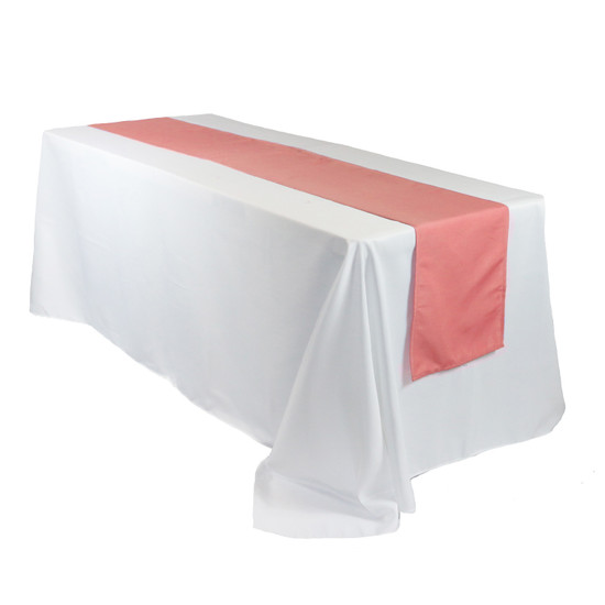 14 x 108 Inch Polyester Table Runner Coral for rectangular tables