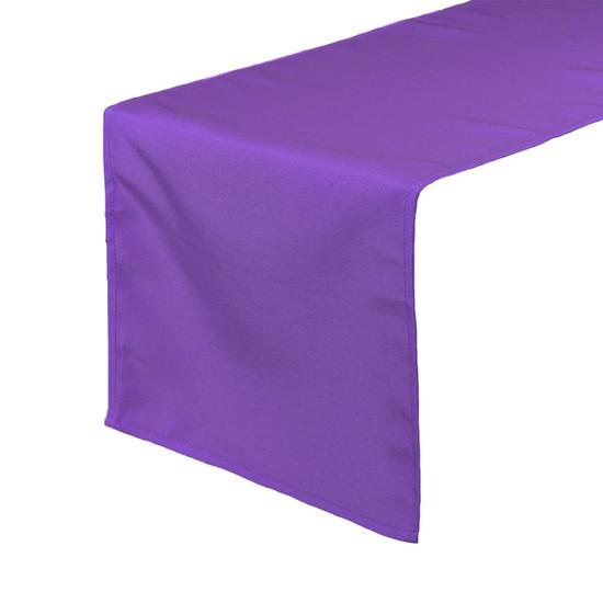 Purple Table Runners, Polyester Table Runner for Weddings