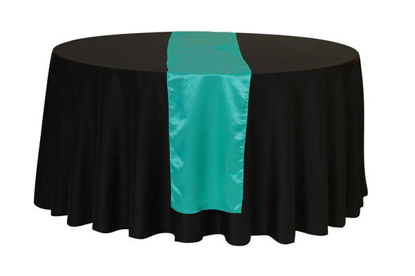 14 X 108 Inch Satin Table Runner Teal Your Chair Covers Inc