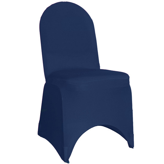 Spandex Chair Covers Navy Blue