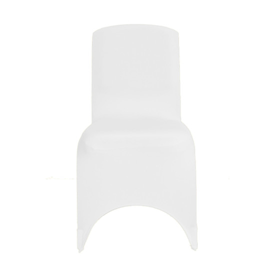Square Top Spandex Chair Covers White for Weddings