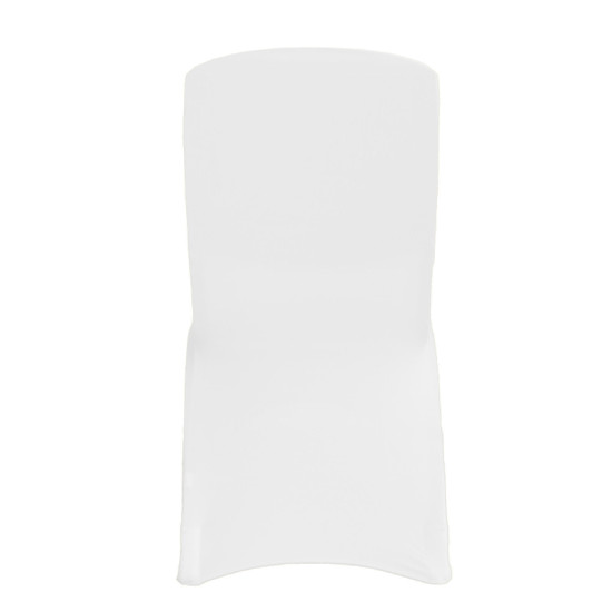 Square Top Spandex Chair Covers White For Hotels