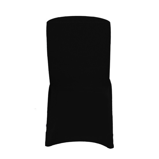 Square Top Spandex Chair Covers Black For Hotels