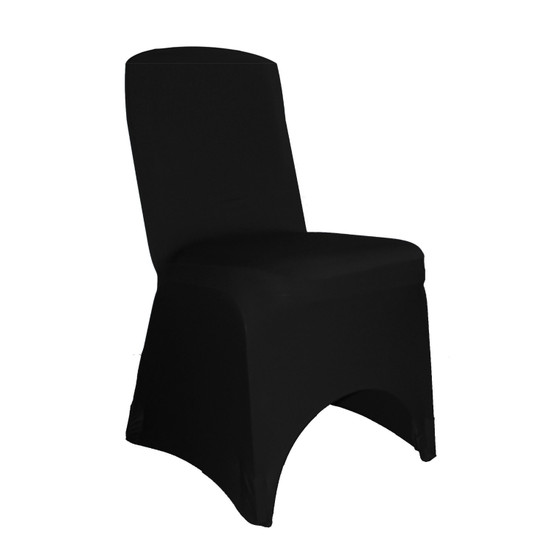 Wholesale Square Top Spandex Chair Covers Black