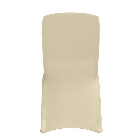 Square Top Spandex Chair Covers Ivory For Hotels