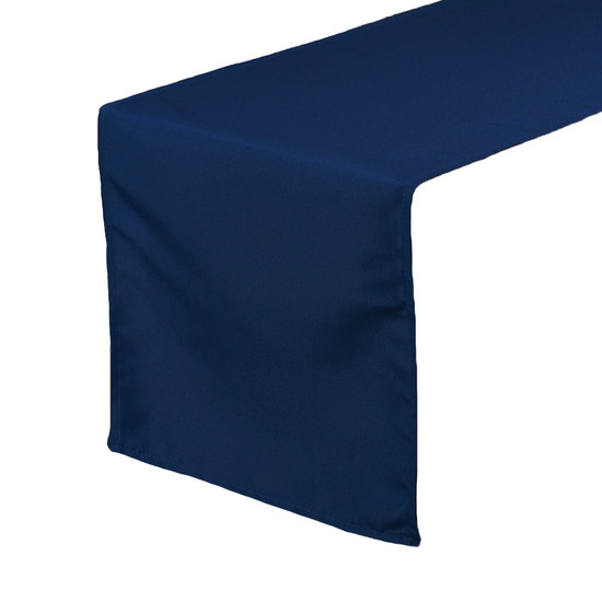 Navy Blue Table Runners, Polyester Table Runner for Weddings