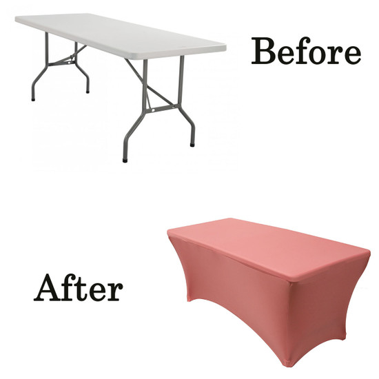 coral wood folding table covers