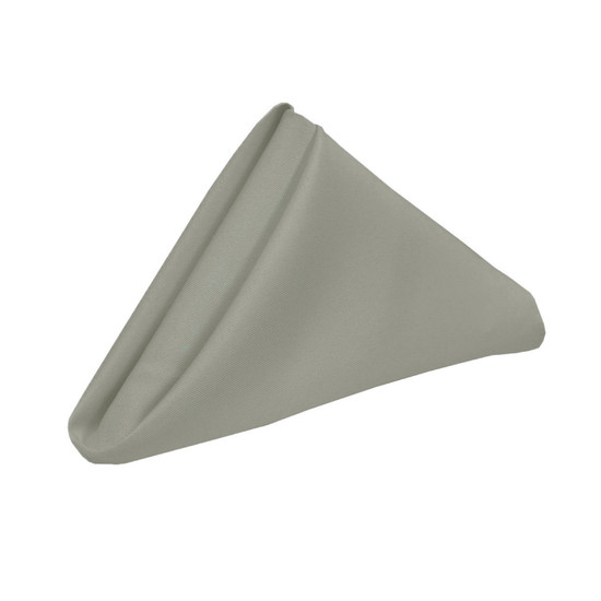 20 inch Polyester Cloth Napkins Gray
