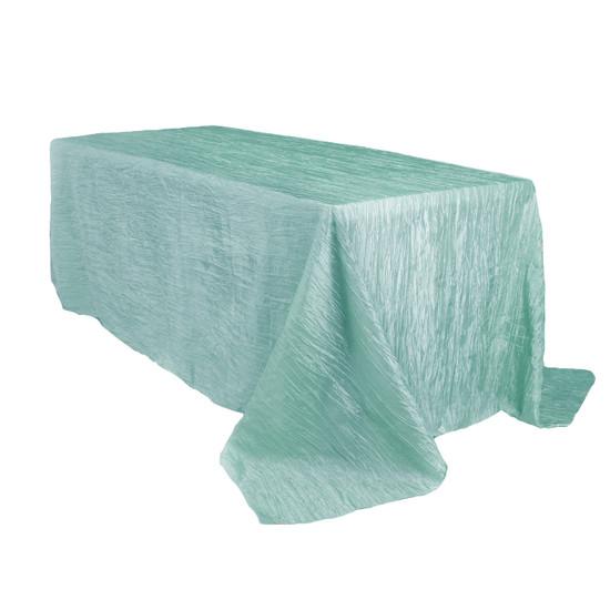 90 x 156 Inch Rectangular Crinkle Taffeta Tablecloth Tiffany