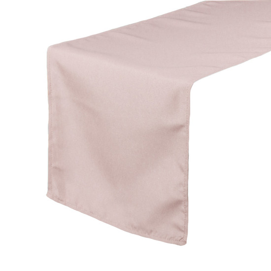 14 x 108 inch Polyester Table Runners Blush