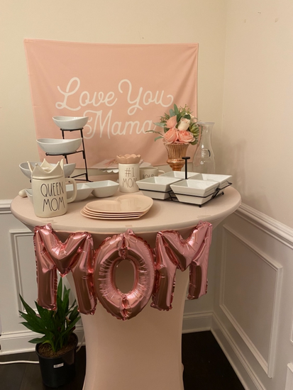 blush cocktail table covers