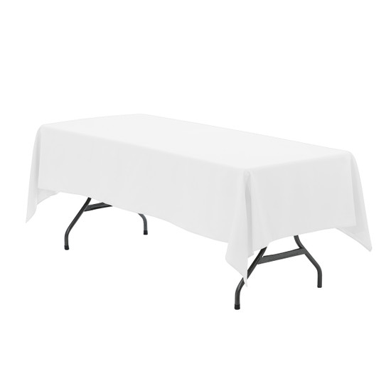 60 x 102 inch Rectangular Polyester Tablecloth White