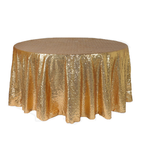 Gold Sequin Tablecloths for 5 ft round tables