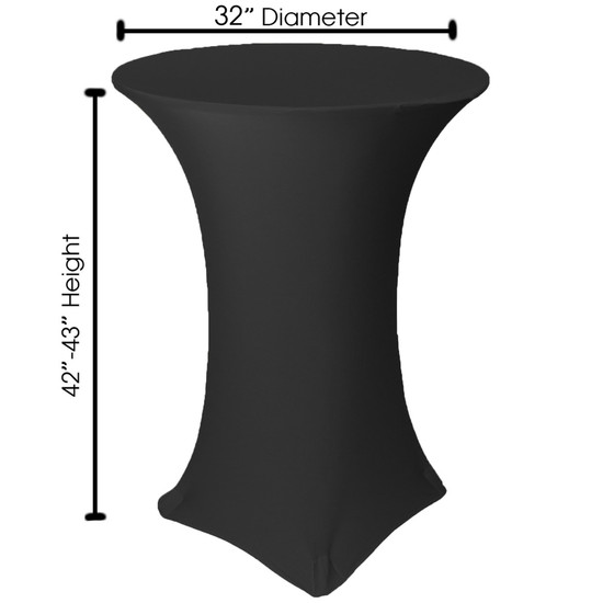 measurements of 32 inch cocktail table covers