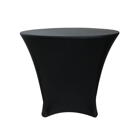 36 x 30 inch Lowboy Cocktail Round Stretch Spandex Table Covers Black